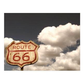 Blauen Himmels auf Weg 66 Postkarte