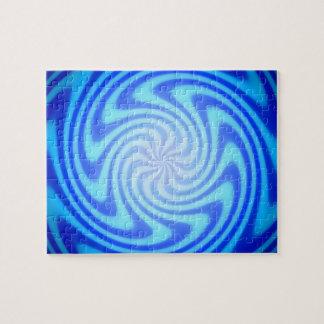Blauer Abgrund winden abwärts sich Puzzle