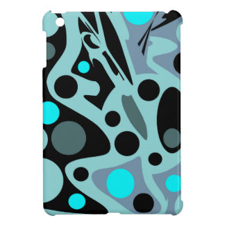 Blauer abstrakter Dekor iPad Mini Hüllen