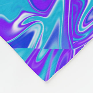 Blauer abstrakter Marbleized Himmel, große Fleecedecke