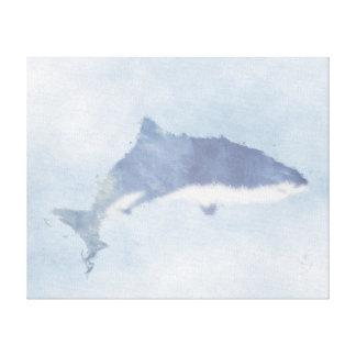 Blauer abstrakter Tiger-Haifisch-Leinwand-Druck Leinwanddruck