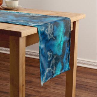 Blauer Achat 2 Kurzer Tischläufer
