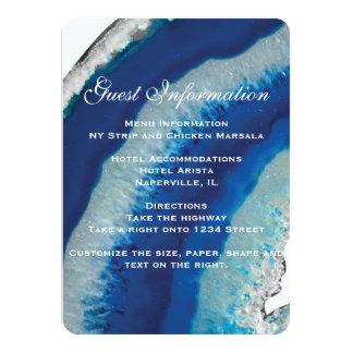 Blauer Achat-Hochzeits-Einsatz Karte