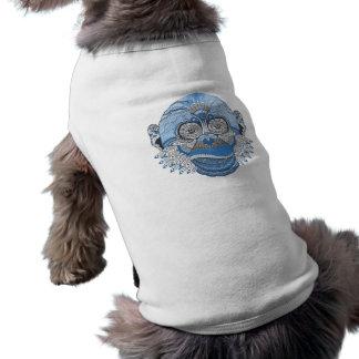 Blauer Affe-Gesichts-Kunst-Entwurf T-Shirt