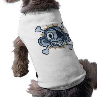 Blauer Affe-Pirat T-Shirt