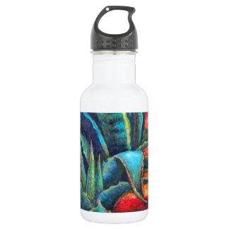 Blauer Agaven-Kaktus-Sonnenaufgang durch Sharles Trinkflaschen