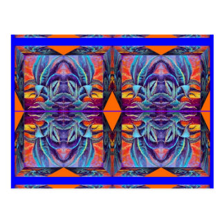 Blauer Agaven-Surrealismus durch Sharles Postkarte