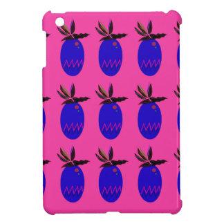 Blauer ananases Entwurf auf Rosa iPad Mini Hülle