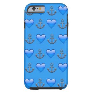 Blauer Anker Emoji iPhone 6/6s Kasten Tough iPhone 6 Hülle