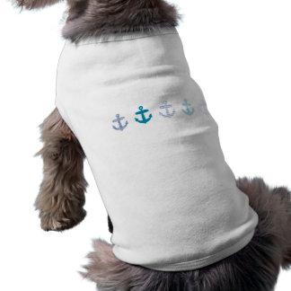 Blauer Anker-nautischentwurf T-Shirt