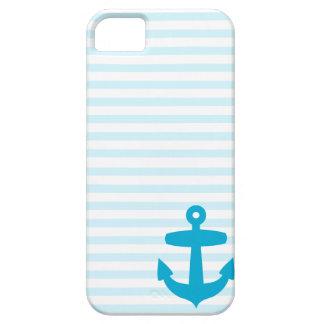 Blauer Anker und hellblaue Seemanns-Streifen Hülle Fürs iPhone 5