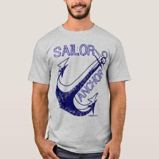 Blauer Anker, Vintag, nautisch T-Shirt