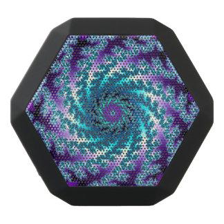 Blauer aquamariner lila Fraktal-Strudel Bluetooth Schwarze Bluetooth Lautsprecher