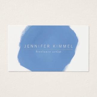 Blauer Aquarell-Bürsten-Kreis Visitenkarte