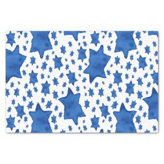 Blauer Aquarell-Davidsstern Seidenpapier