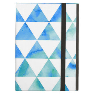 Blauer Aquarell-Dreieck-Entwurf