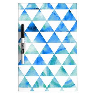 Blauer Aquarell-Dreieck-Entwurf Trockenlöschtafel