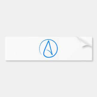 Blauer Atheist A Autoaufkleber