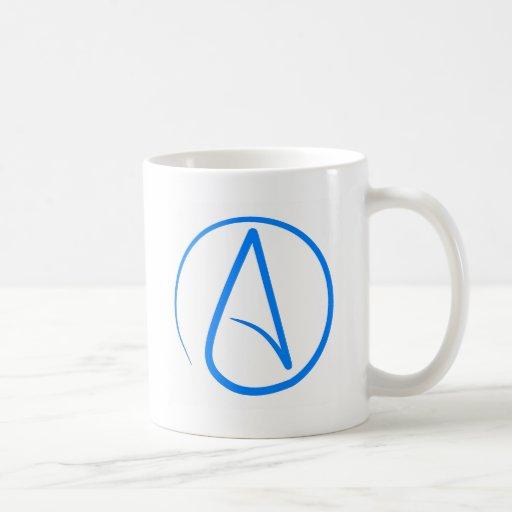 Blauer Atheist A Tee Haferl