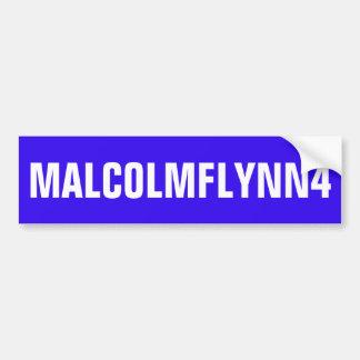 BLAUER AUTOAUFKLEBER MIT MALCOLMFLYNN4