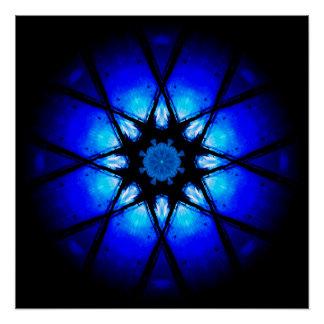 Blauer Ball der Energie-3D Poster