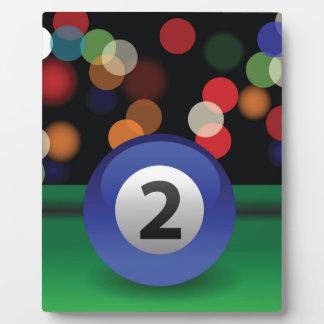blauer Ball Fotoplatte