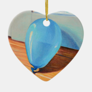 Blauer Ballon Keramik Ornament
