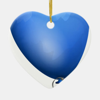 Blauer Ballon Keramik Ornament