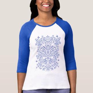 Blauer Baum von Leben-DamenRaglan Jersey T-Shirt