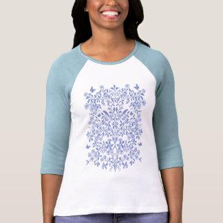 Blauer Baum von Leben-DamenRaglan Jersey T Shirt