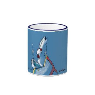 Blauer Bischof mit blauer Kante Ringer Tasse