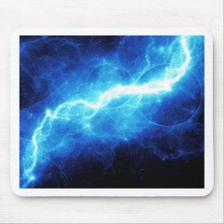 Blauer Blitz Mousepad