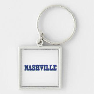 Blauer Block Nashvilles Schlüsselanhänger