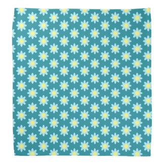 Blauer Blume TP Kopftuch