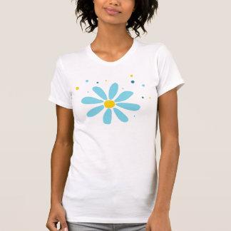Blauer Blumen-T - Shirt
