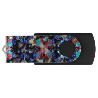 Blauer Blumen USB-Blitz-Antrieb USB Stick