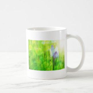 blauer Blumenentwurf Kaffeetasse