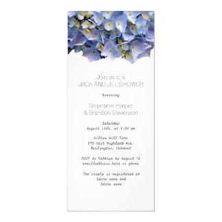 Blauer BlumenJack-und Jill-Polterabend Karte