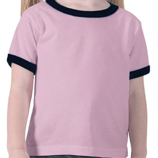 Blauer Blumenrad-T - Shirt