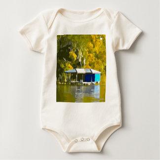 Blauer Boathouse Baby Strampler