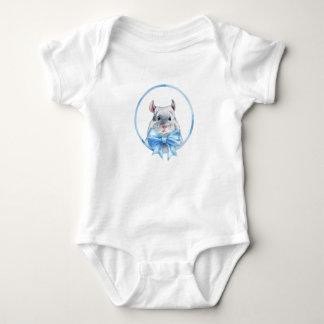 Blauer Bogen der Chinchilla 1. Baby Strampler