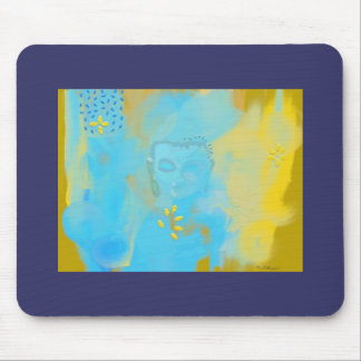 blauer Buddha Mauspads