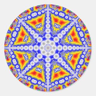 Blauer Buddha Runder Aufkleber