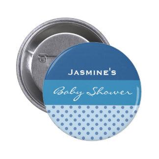 Blauer Runder Button 5,7 Cm