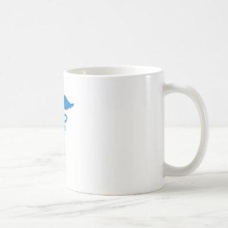 Blauer Caduceus Kaffeetasse