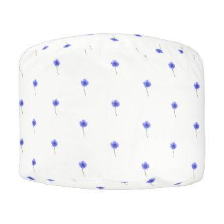 blauer Cornflower Hocker