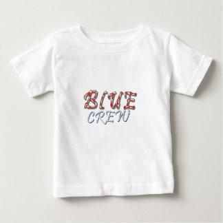 Blauer Crew-Entwurf Baby T-shirt