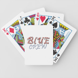 Blauer Crew-Entwurf Bicycle Spielkarten