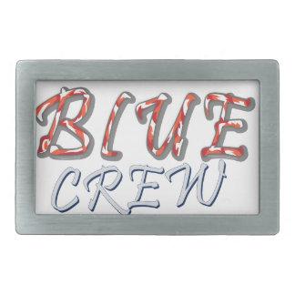 Blauer Crew-Entwurf Rechteckige Gürtelschnalle