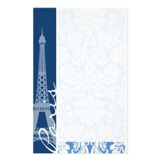 Blauer Damast; Paris Druckpapier
